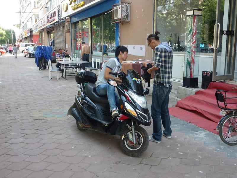 Китайский макси скутер Хэйхэ