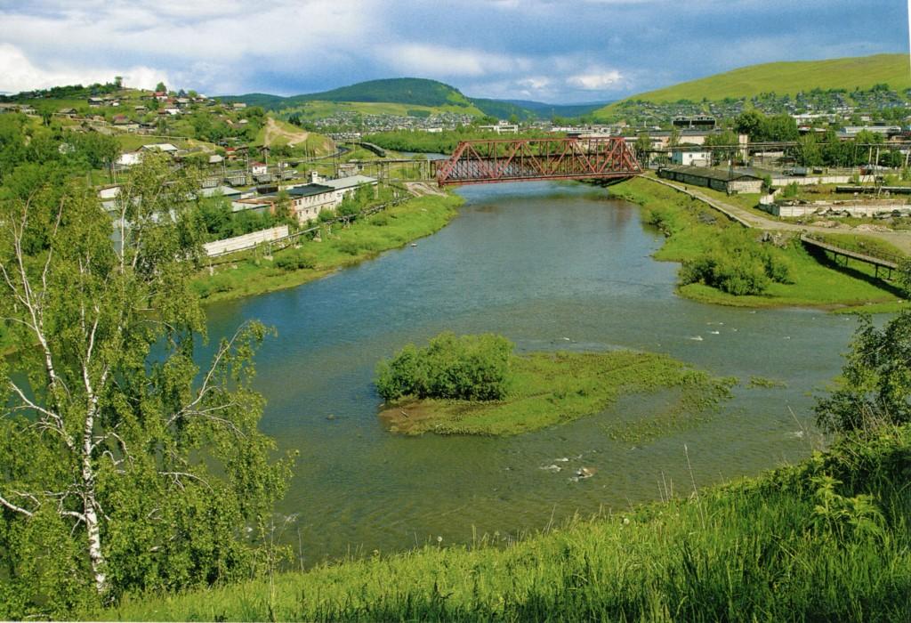 Усть-Катав фото города: Вид на Брянский мост в Усть-Катаве