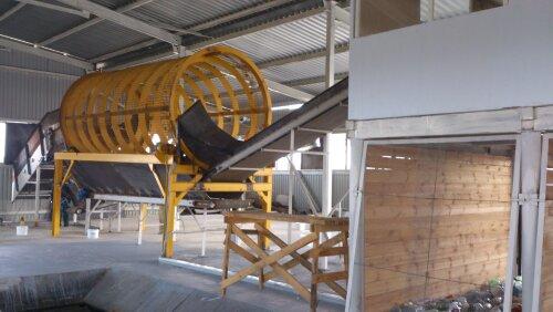 Грохот на входе мусороперерабатывающего завода