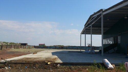 Приемная площадка мусороперерабатывающего завода