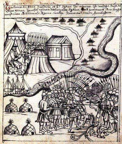 Рисунок Чинги-Тура из Ремезовской летописи