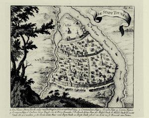 Карта Тюмени 1705 года Николаса Висена