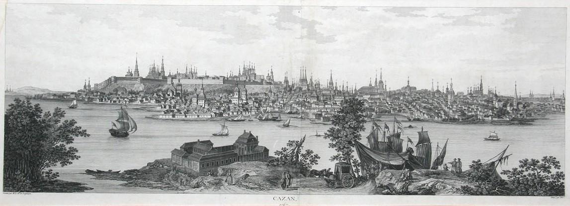 Вид Казани гравюра 18 век