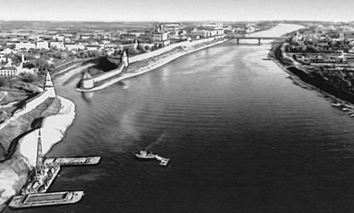 Псков река Великая