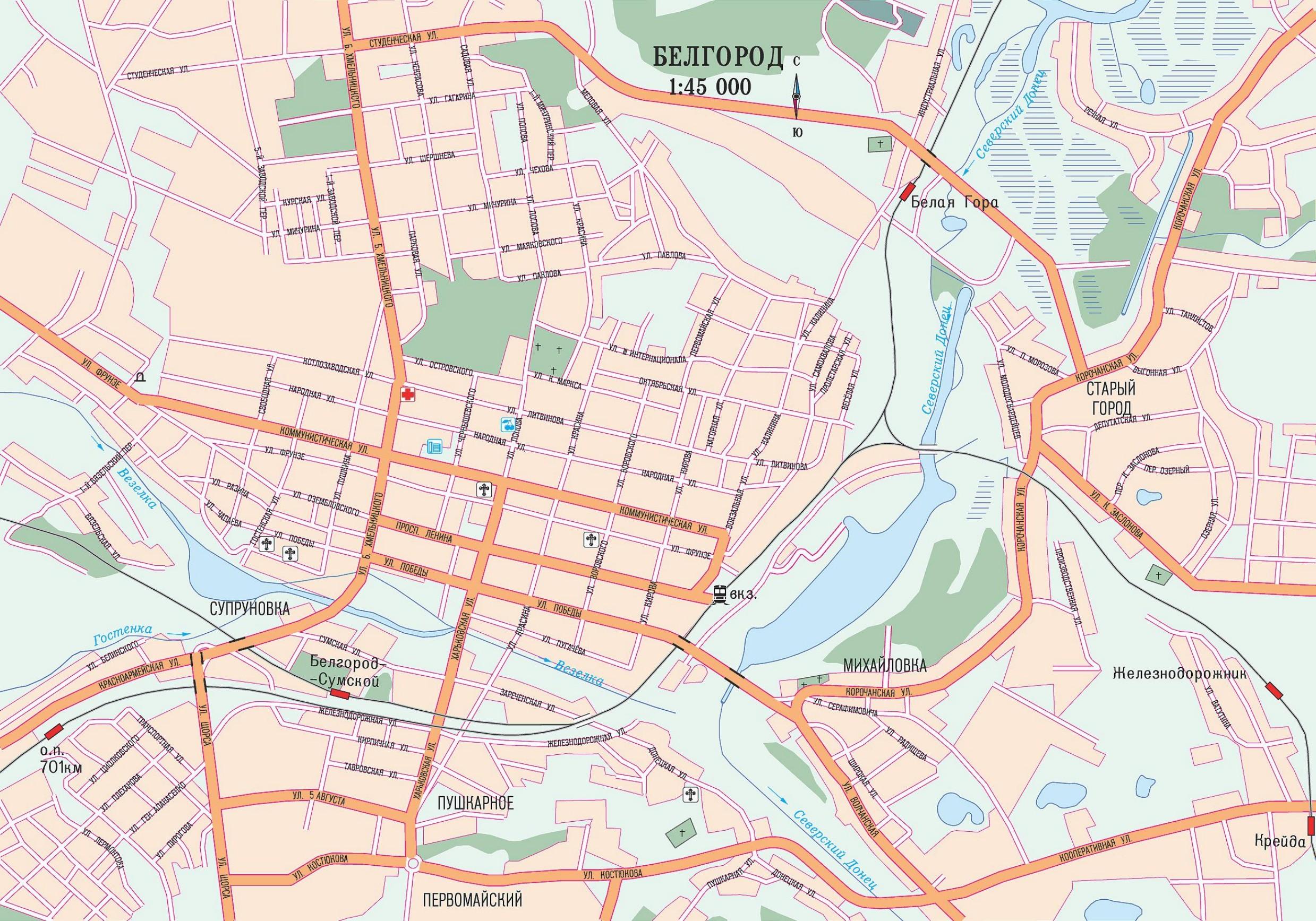 Топографические Карты Губкинского Района