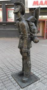 фото иркутских достопримечательностей, памятник туристу