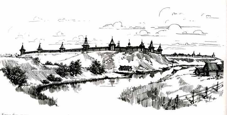 Рязанский деревянный кремль