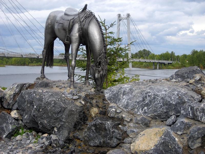 Конь - памятник основателям Красноярска
