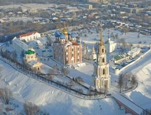 фото рязанского кремля с птичьего полета