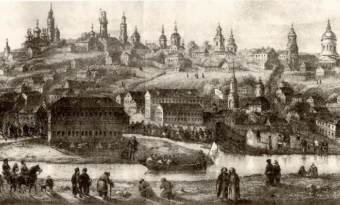 старый Воронеж гравюра