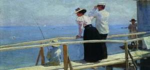 Петр Нилус на мостике из собрания Воронежского областного художественного музея