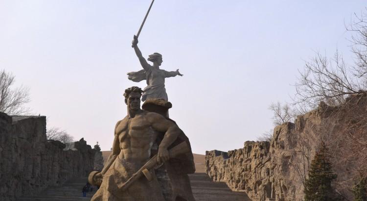 Мемориал на Мамаевом кургане в Врогограде
