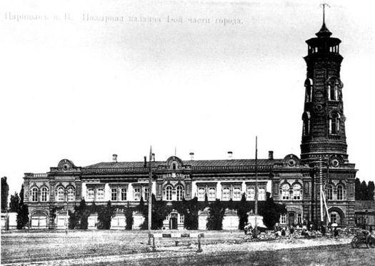 Здание царицынской пожарной команды (пожарная каланча) старое фото