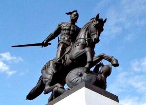 Памятник Святославу в честь разгрома Хазарского Каганата