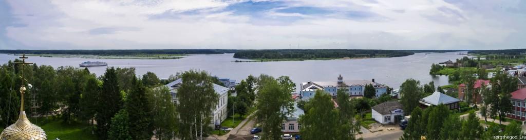 Достопримечательности Мышкина: Панорама Мышкина  с колокольни Упенского собора