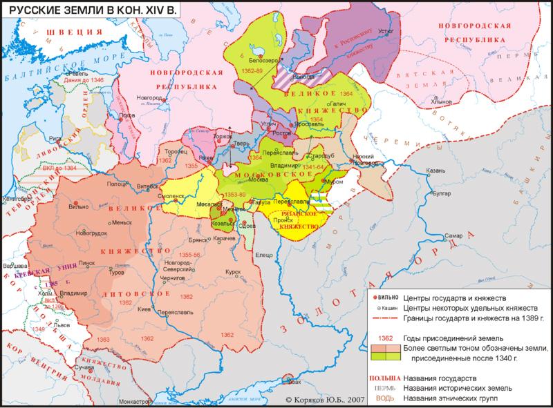 Муром на карте древней Руси
