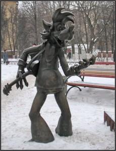 Воронеж, Памятник волку из мультфильма Ну Погоди