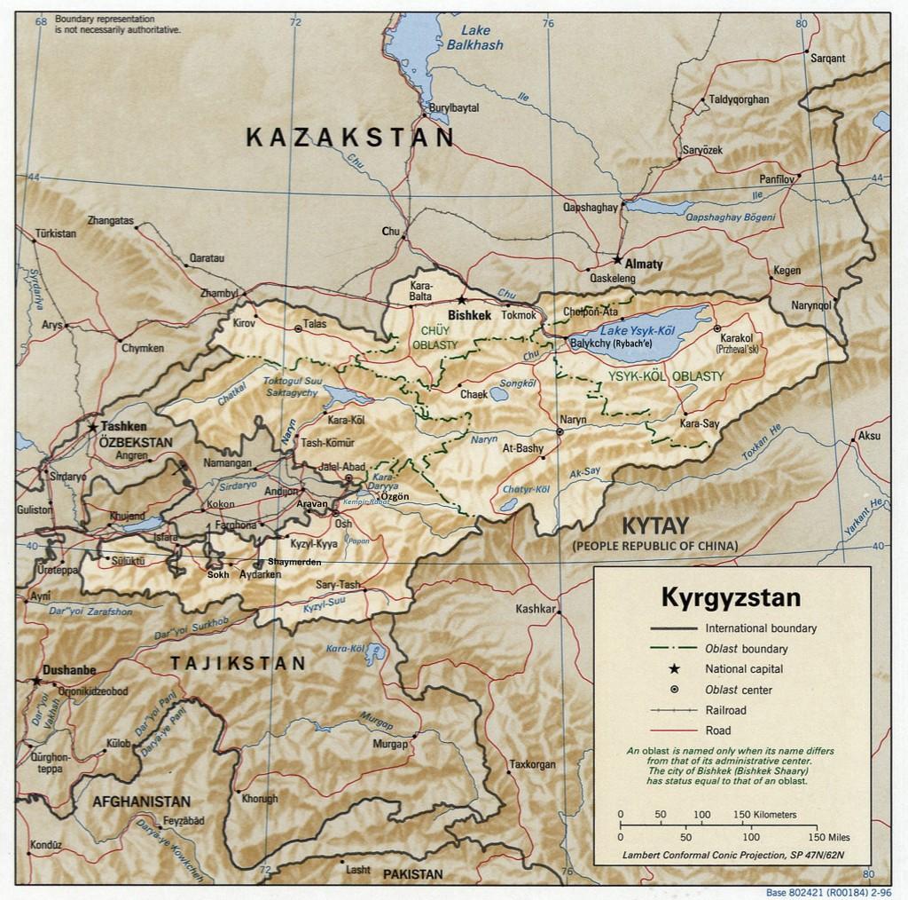 Kyrgyzstan_map