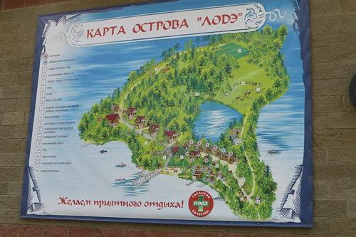 Карта пансионата Лепель
