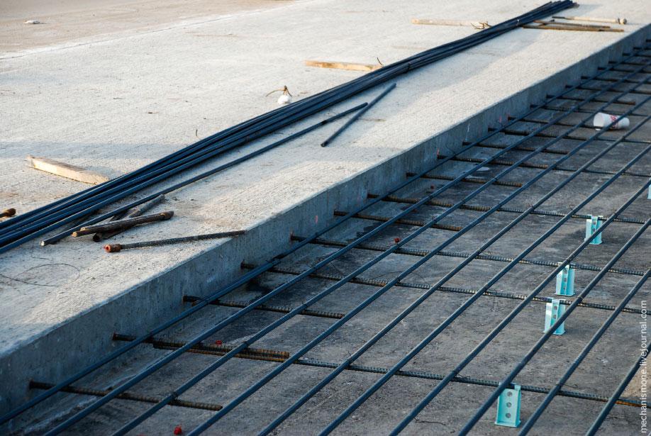 Строительство дорог в США из монолитного бетона