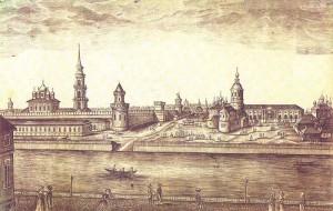 История Тулы: вид на тульский кремль и центральную часть города, 1807 год.
