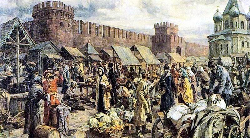 Рынок у тульского кремля