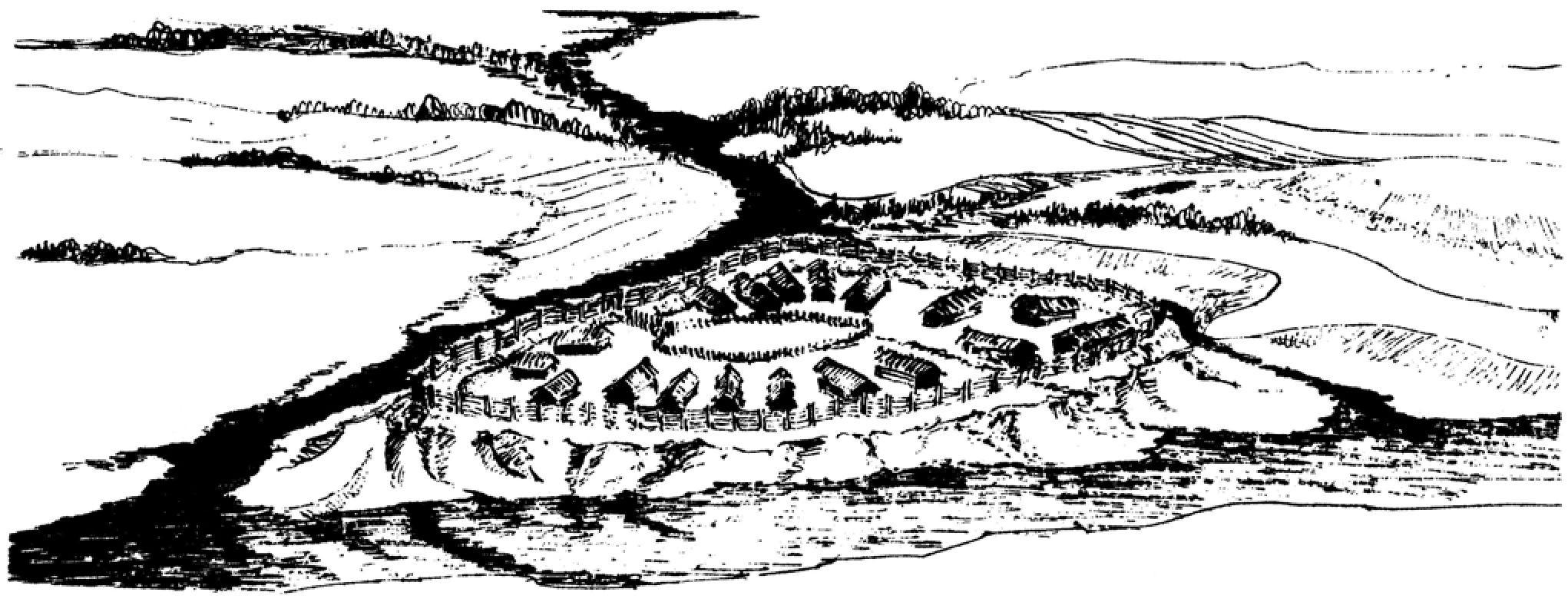 схема укреплений древнего козельска